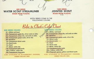 Clark Streamliner and Jointed Scout Lures