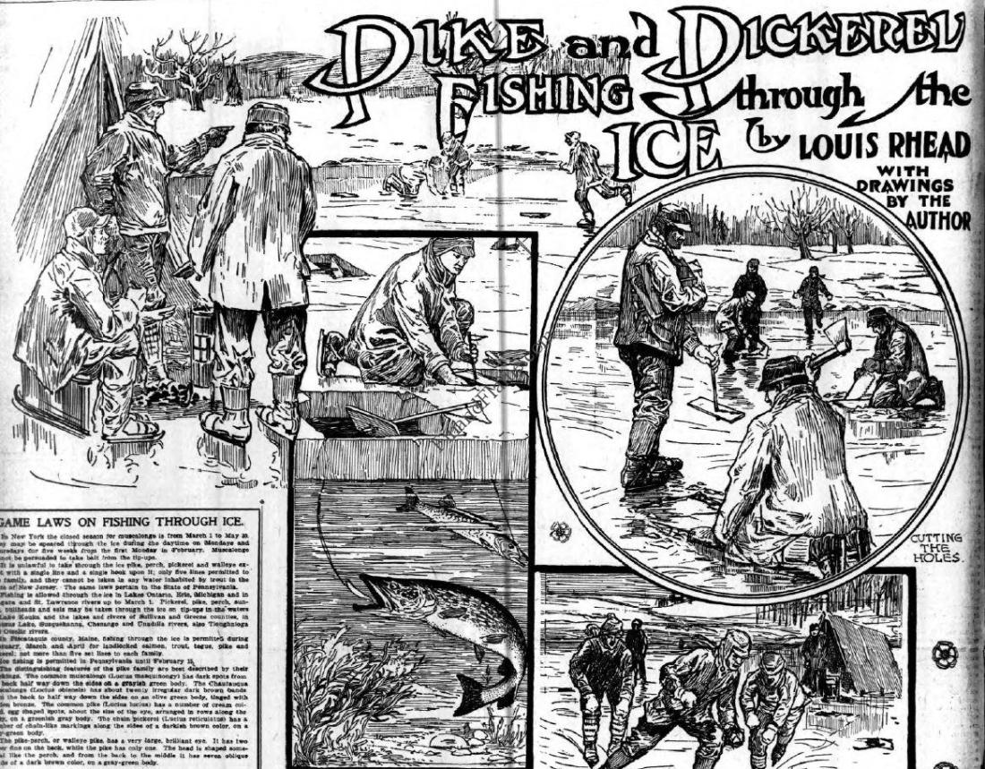 Seeing Through the Ice Louis Rhead Ice Fishing