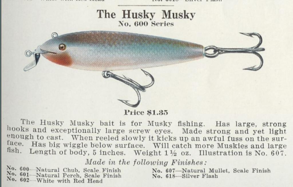 Creek Chub Husky Musky Lure Catalog Cut