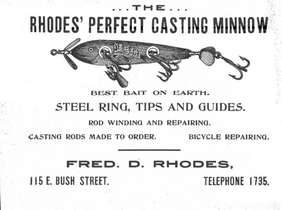 Rhodes Perfect Casting Minnow Lure 1903