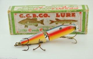 Creek Chub Rainbow Jointed Snook Pikie Minnow in Box