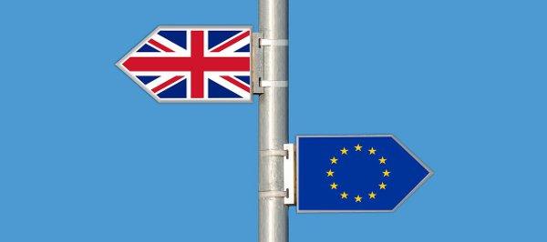 flaga Wielkiej Brytanii i UE