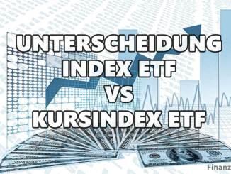 Unterscheidung zwischen Performance Index-ETF und Kursindex-ETF
