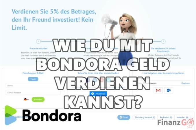 Bitte werbe mit Bondora. Es ist ganz einfach denn Du wirst dafür belohnt.