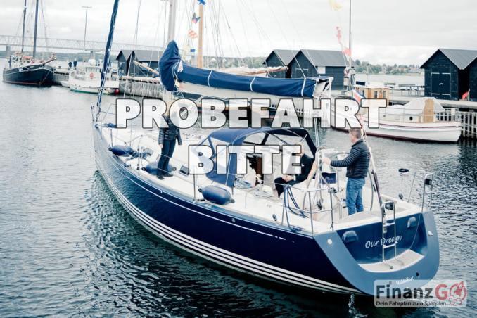 Beim Segelboot Kauf ist immer eine Probefahrt nötig