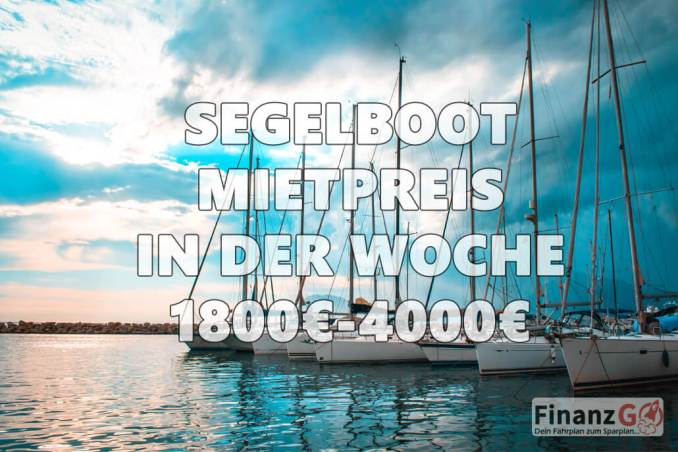 Segelbootmietpreis pro Woche ist 1800-4000 Ezro