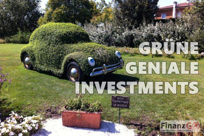 Nachhaltiges Investieren in Geldanlagen mit ökologischen Mindset
