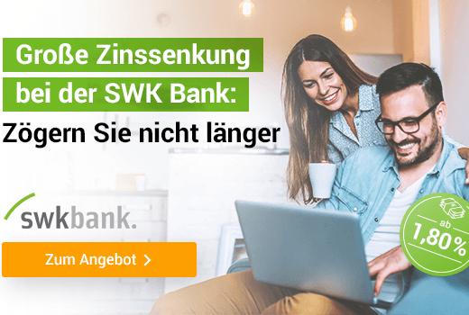 SWK Bank Bar Kredit und smava mit Niedrigzins.