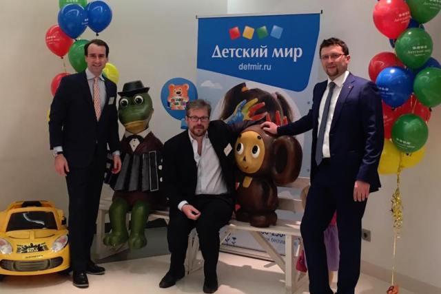 Квин Мартин, Том Блэквелл (ЕМ) и Лев Быстров (Московская биржа)