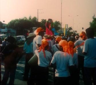 Mobilizacion en Barranca jovenes