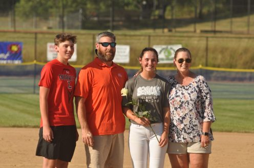 Botetourt's Bre Carter with brother Andrew and parents Greg and Dawn Carter. [PHOTOS: Brian Hoffman]