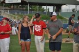James River's Chase Oberg with sister Haleigh and father Todd.