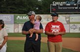 Hunter Wilson of the Knights with dad Freddie.