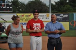 JR's Kevin Austin with parents Pam and Mark.