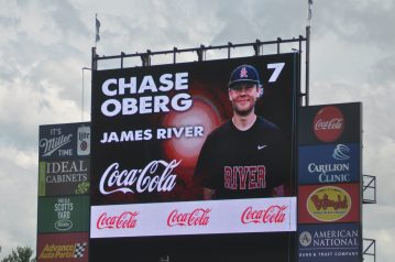 Every player in the game had his picture on the Salem Memorial scoreboard. [PHOTOS: Brian Hoffman]