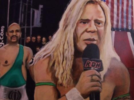 Micky Rourke as the wrestler