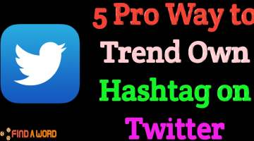 How to trend hashtag on twitter