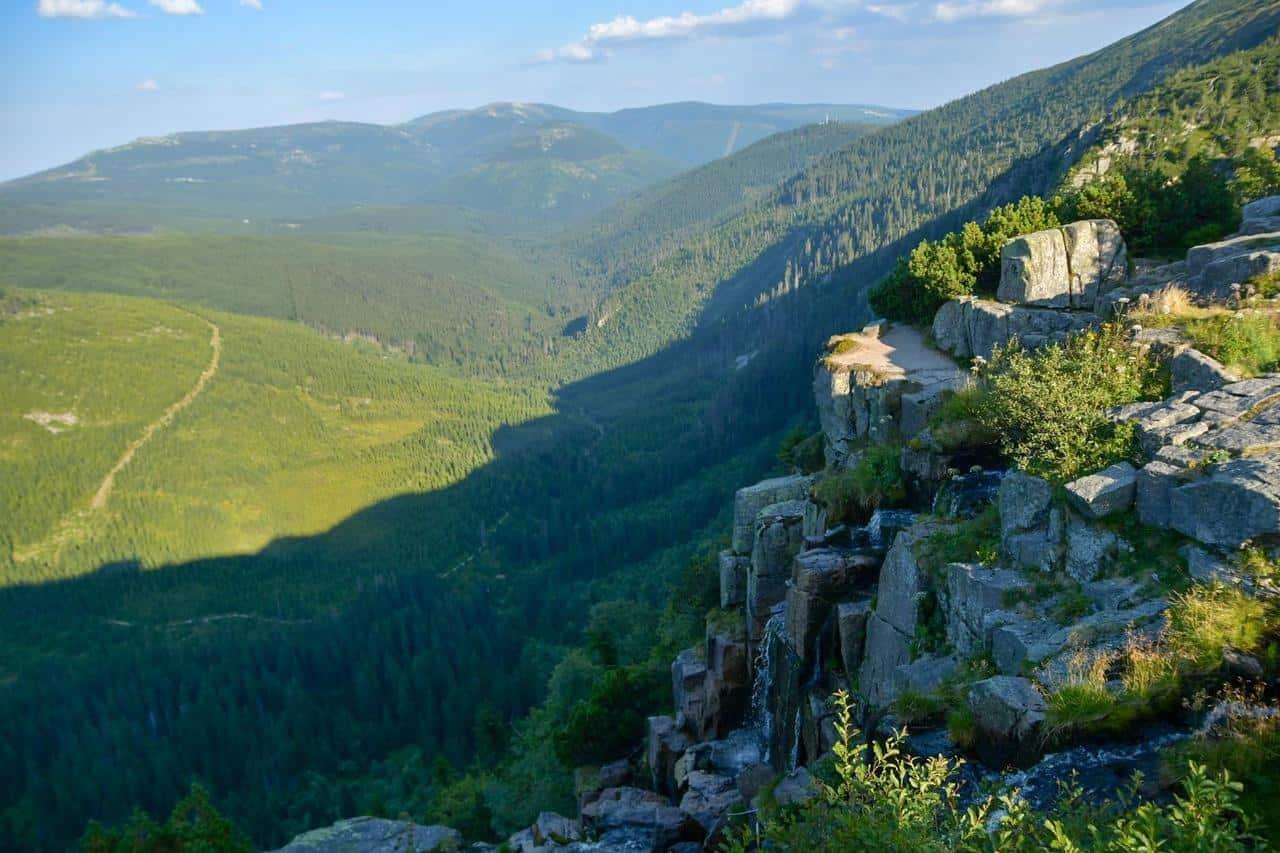 Der Wasserfall im Riesengebirge