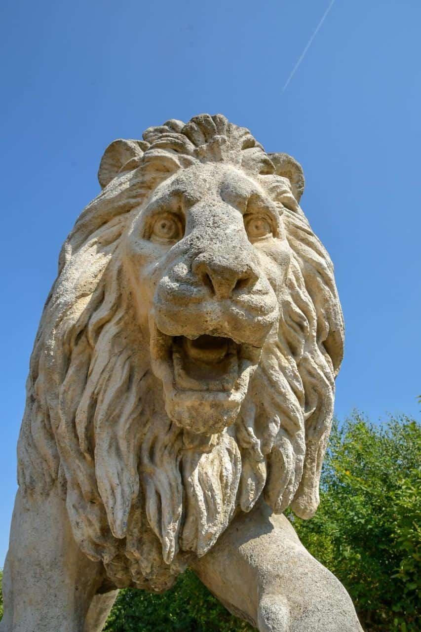 Der preußische Löwe zur Ehre der Gefallenen