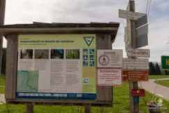 Infoschild am Start zur Ammerschlucht