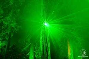 In der grünen Hölle - Laser-Lichtspiel