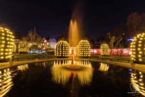 Springbrunnen im Christmas Garden