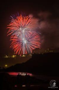 Feuerwerk Biarritz Frankreich