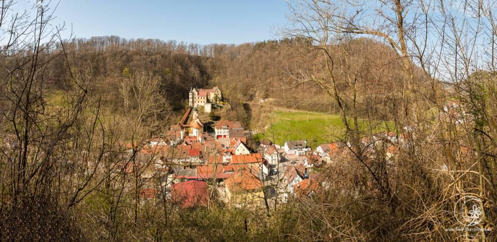 Blick auf das Schloss Weißenstein und den Ort