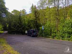 Der Wanderparkplatz im Orketal