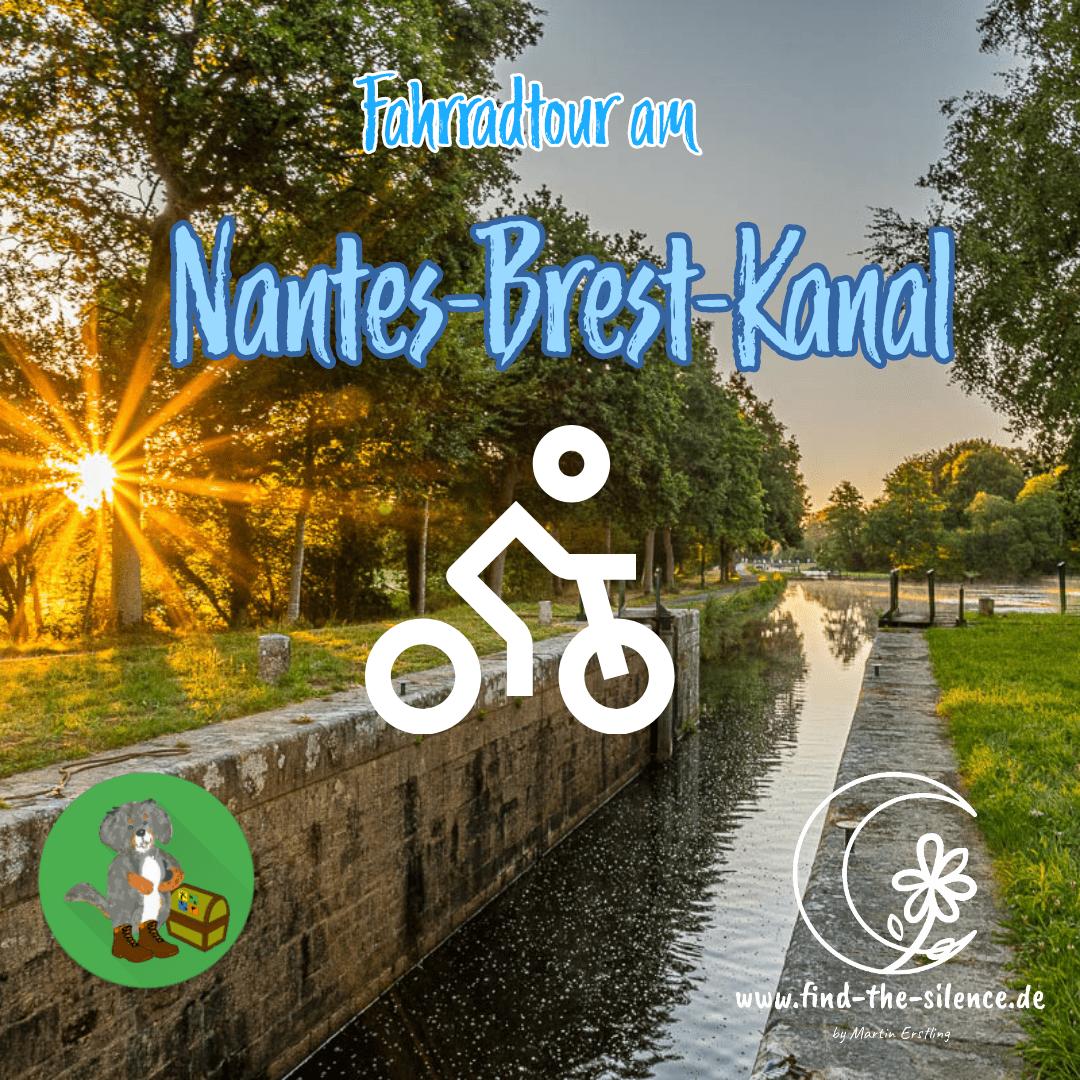 Der Kanal-Radweg am Nantes-Brest-Kanal