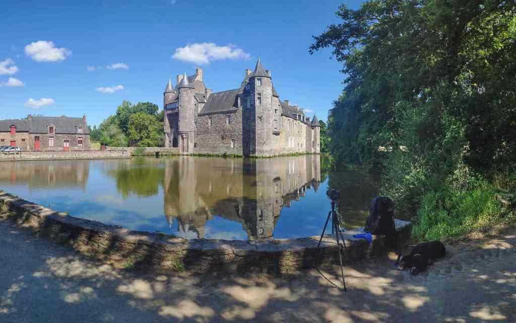 Fotoshooting am Chateau de Trécesson