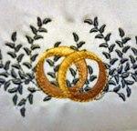 custom embroidered wedding ring design
