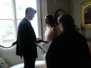 A couple eloped on a rainy day, and needed a location.  I secured for them the elegant parlor at the Stonington Historical Society