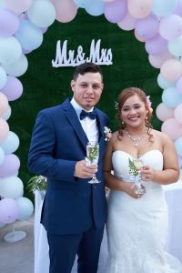 Felipe & Felbraina - Intimate family backyard wedding