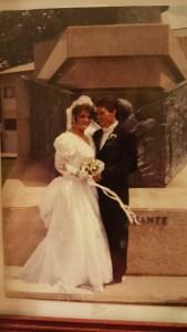 My wedding 28 yrs ago, still happy & in love!
