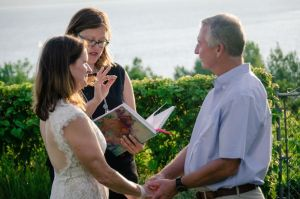 Wedding by Lake Champlain at a private home. 10 guest.Photo by Sara Lavoie