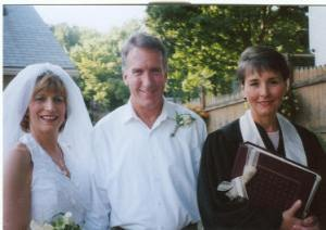 East Hartford backyard: Gail and Bruce,