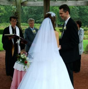 Rose Garden, West Hartford: Otto and Xena