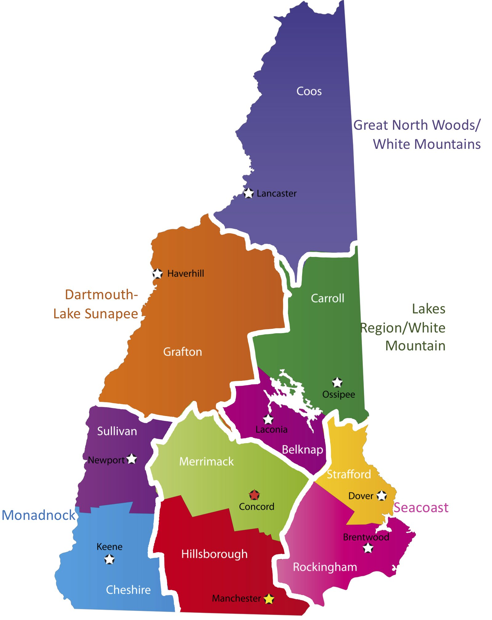 Regions in New Hampshire