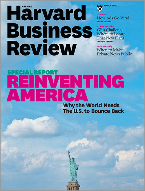 Harvard Business Review March 2012