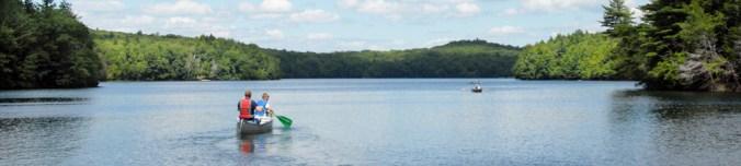 Caneoing in Grafton Lake State Park