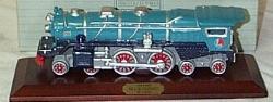 AVON LIONEL CLASSIC TRAIN COLLECTION (1991) Blue Comet Hartford Porcelain with Wood Base