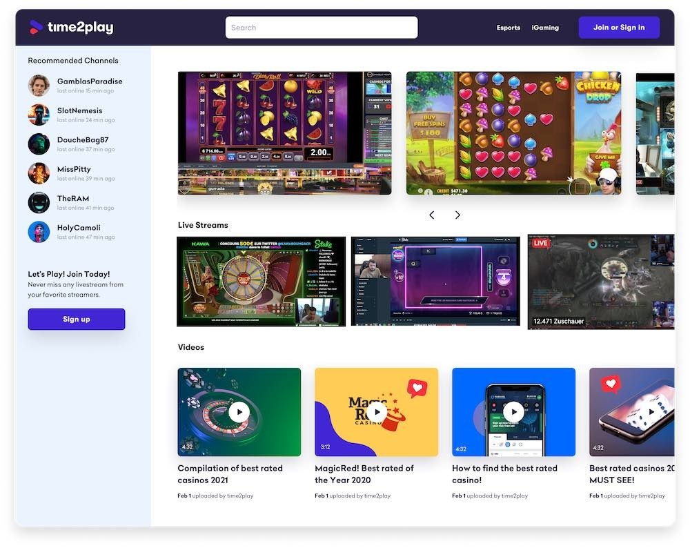 Twitch Gambling Streamers Find a New Home With Time2play