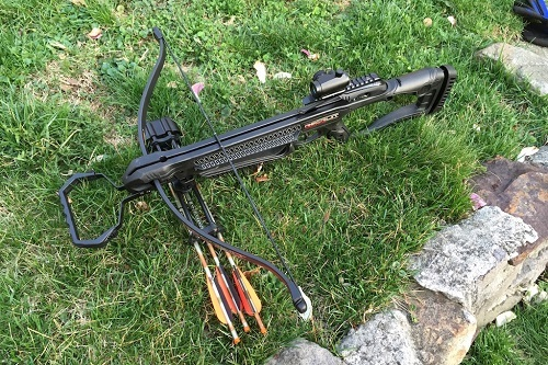 Modern Recurve Crossbow On Grass