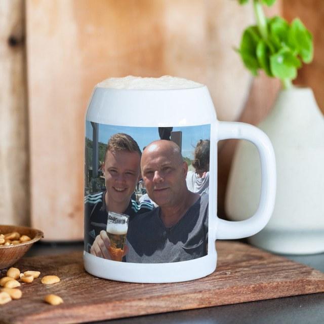 Ølkrus med dit eget foto og tekst Image