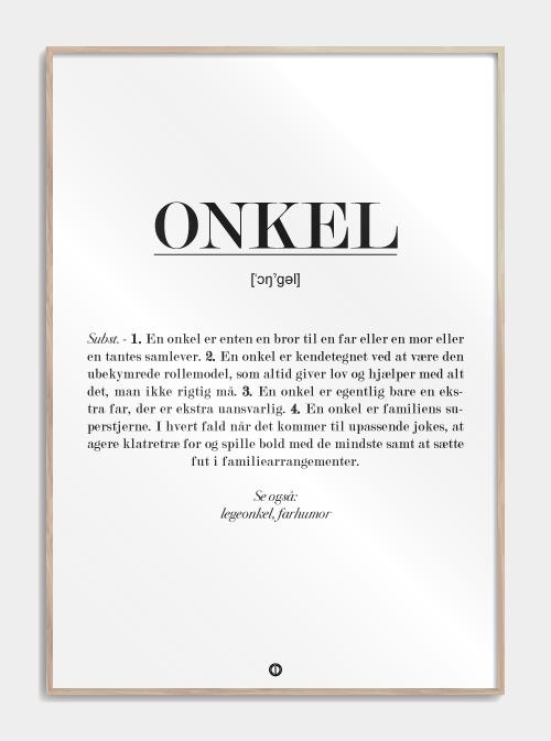 Onkel definition – plakat Image