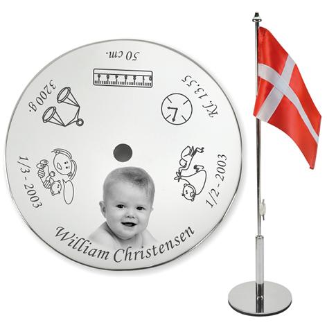Bordflag til navngivning med foto Image