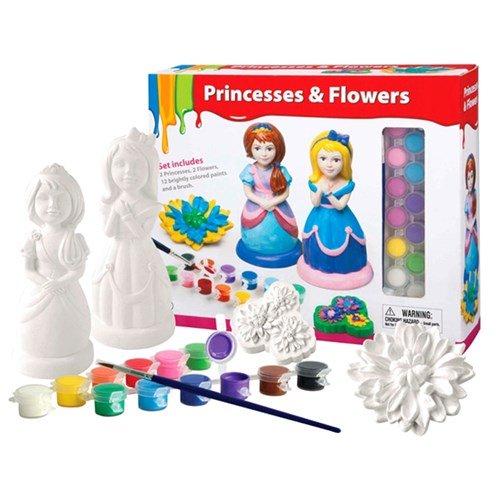 Mal din egen Prinsesse og Blomster Image