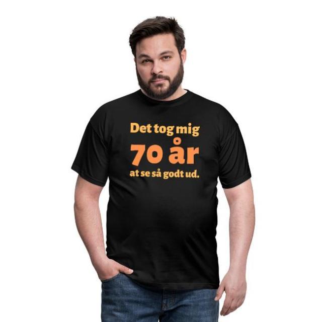 T-shirt, mand - Det tog mig 70 år at se så godt ud Image