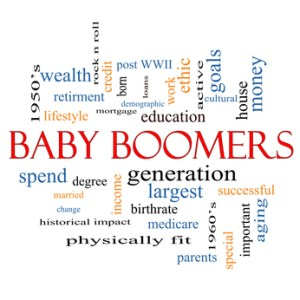 Baby Boomers Word Cloud Concept